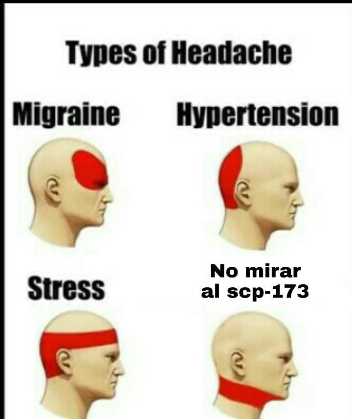 Para rl que no sepa el scp-173 te rompe el cuello si no lo miras xdxd - meme