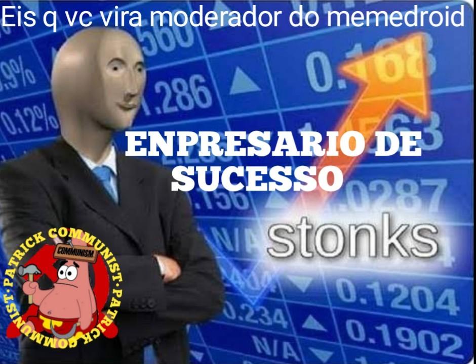 Moderador stonks - meme