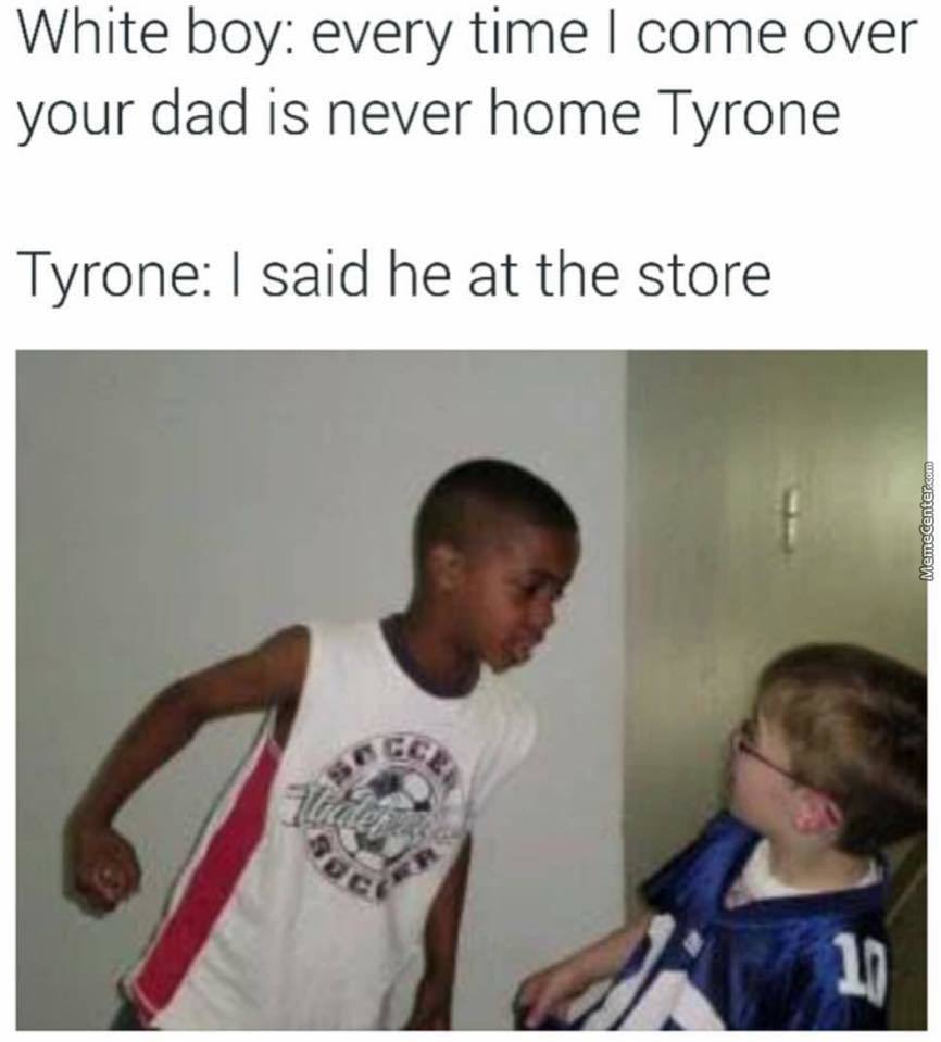 He at the store! - meme