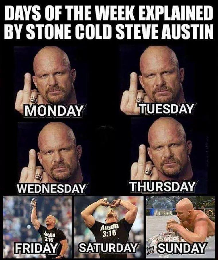 Stone Cold is the goat not bork lazer - meme