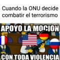 Estis gringos y la violencia. PD: plantilla robada