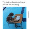Study under water