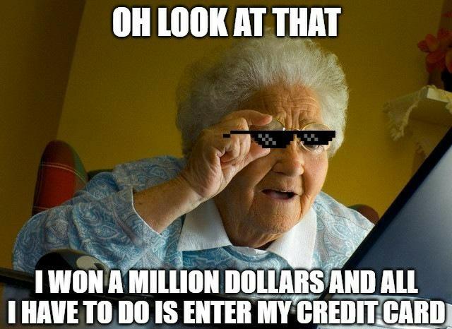 She won 1 million dollars! - meme