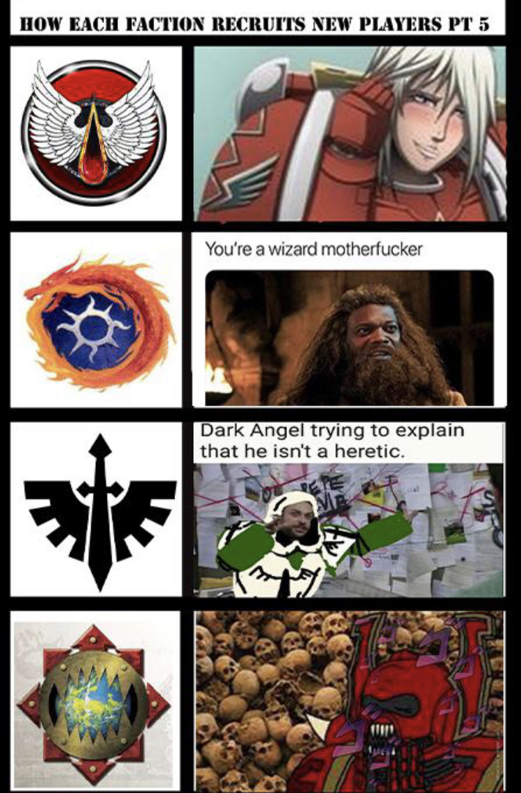 Blood Angels have to be my favourite loyalist Chapter - meme