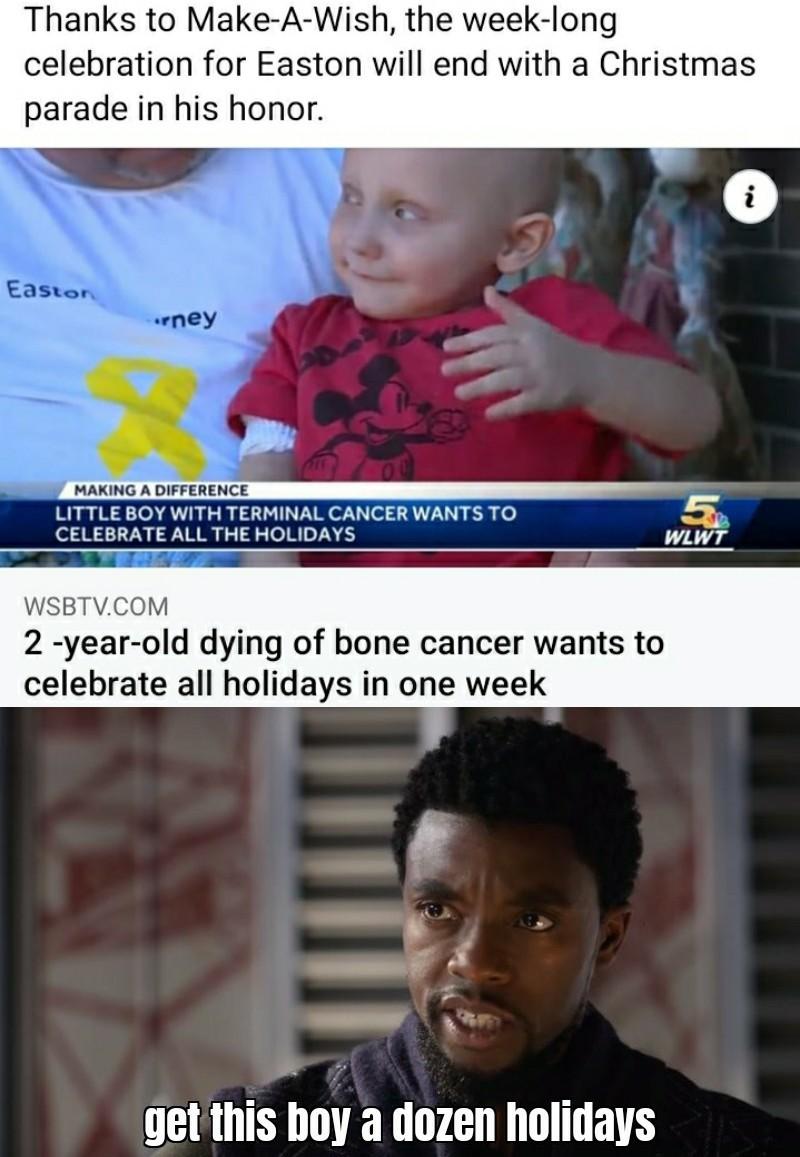 A hundred! A thousand! All days holidays! - meme