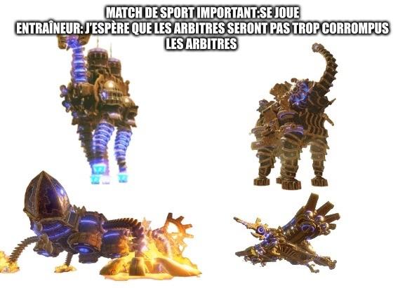Les quatre bêtes divines corrompus par Ganon dans Z A I L L E D A - meme