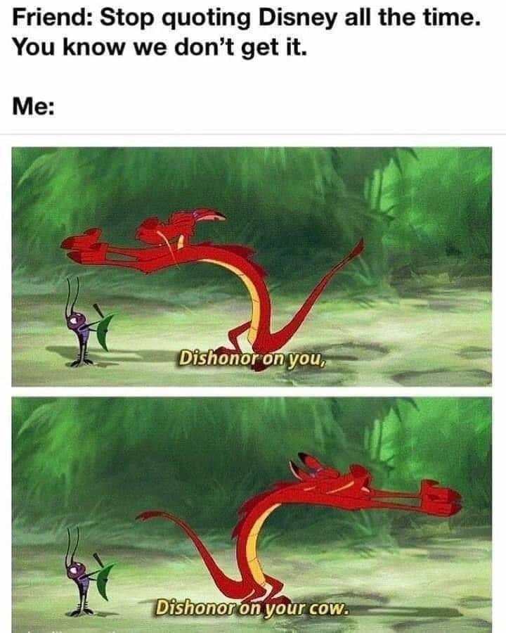 Dishonor on you! - meme