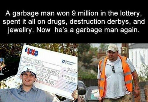 Sad story of a garbage man - meme