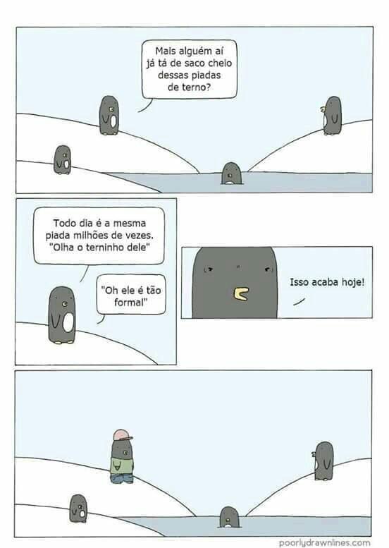Pinguins, cada dia mais maneiros - meme