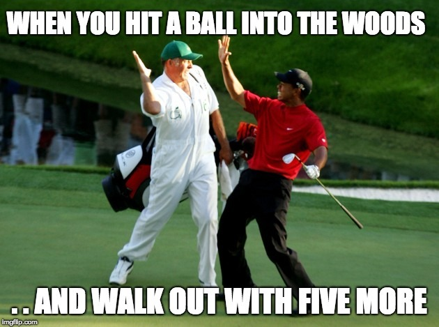 When you suck at golf so you start a ball business - meme