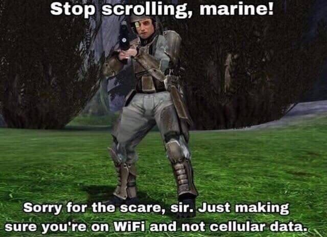 Better be using WiFi bois - meme