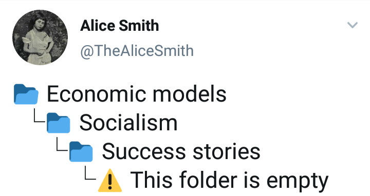 Socialism is a fancy word for starving to death - meme