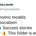 Socialism is a fancy word for starving to death