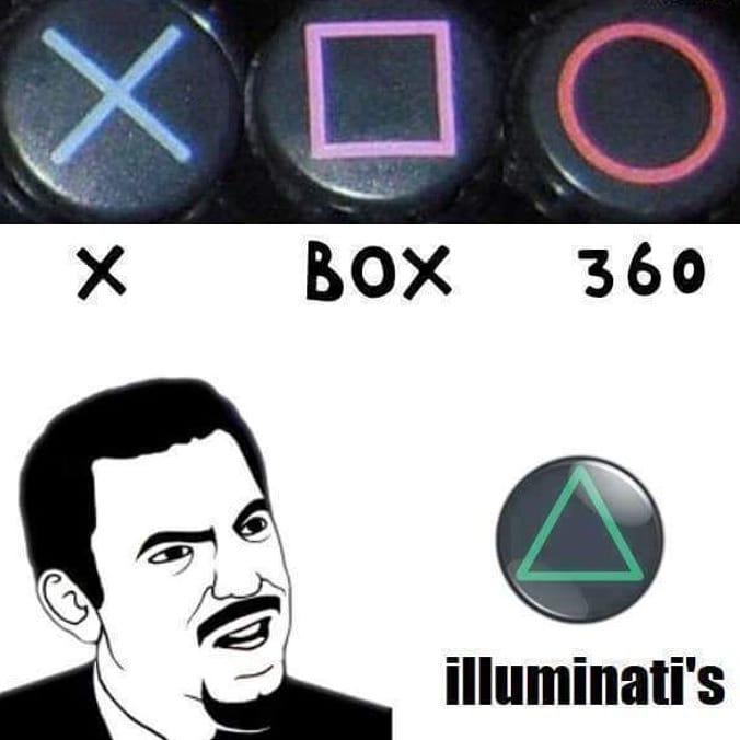xbox vs. play station - meme
