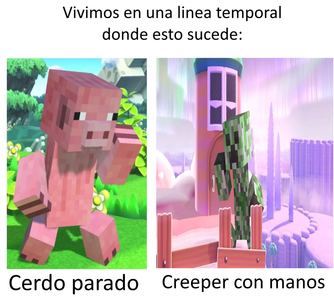 Ultimo meme de Minceraft x Smash se los juro (Bueno hasta que salga el DLC en Latinoamérica :trollface:)