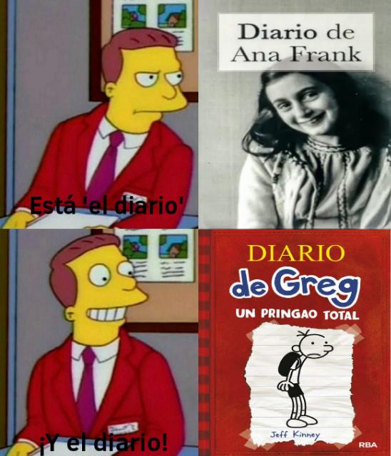 Leí el diario de Ana Frank con mi jefa y estaba re aburrido - meme