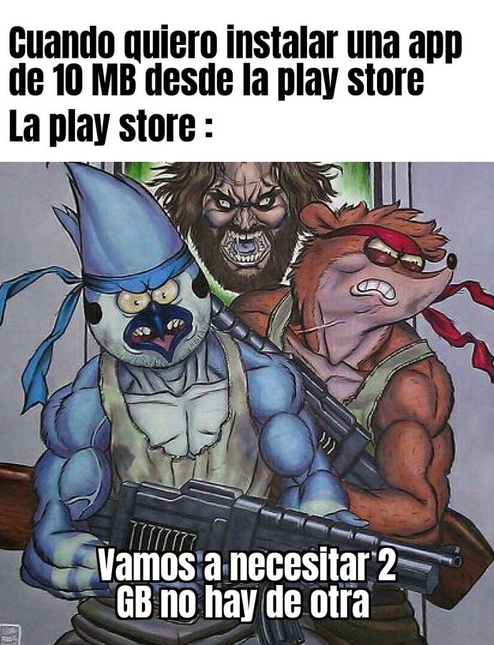 Joder con la play store - meme