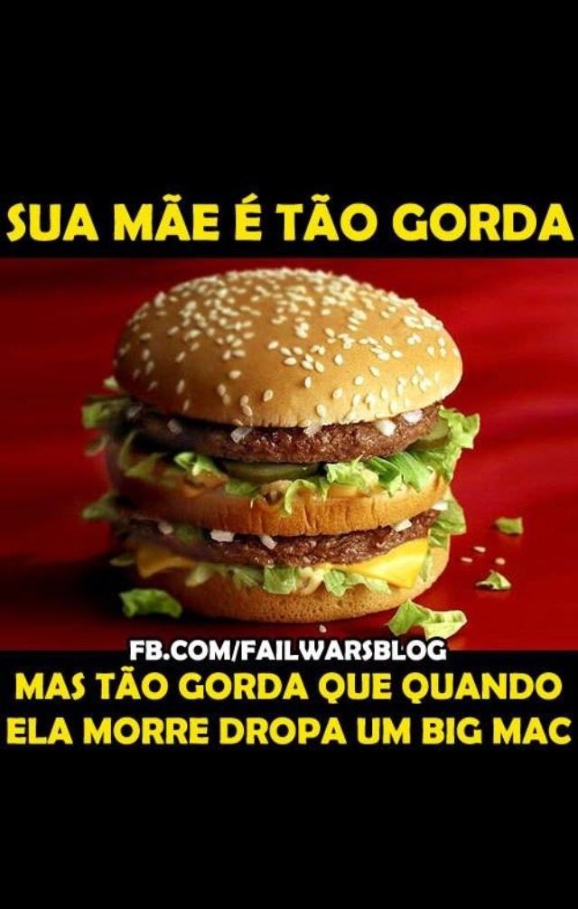Titulo foi comer um Big Mac - meme
