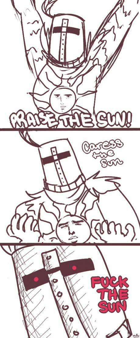 Pray the f****ng sun! - meme