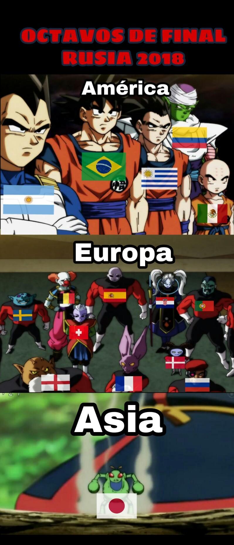 Los continentes representados futbolisticamente    YO LO HICE  - meme