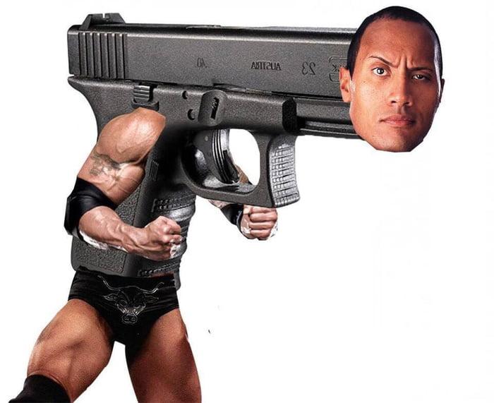 Dwayne the Glock Johnson - meme