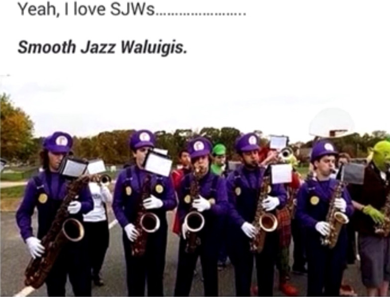 Waluigi and the boys - meme
