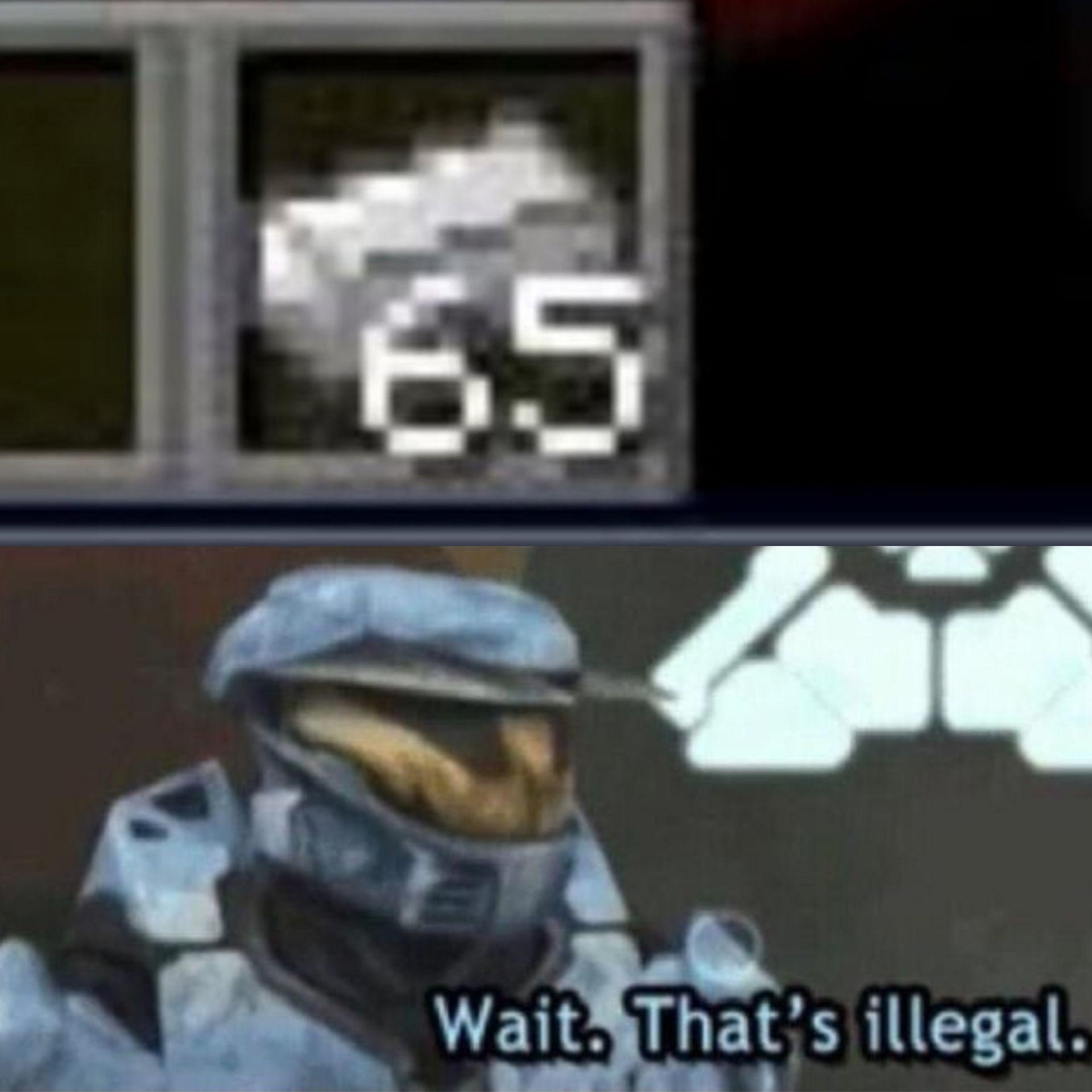 espera eso es ilegal - meme
