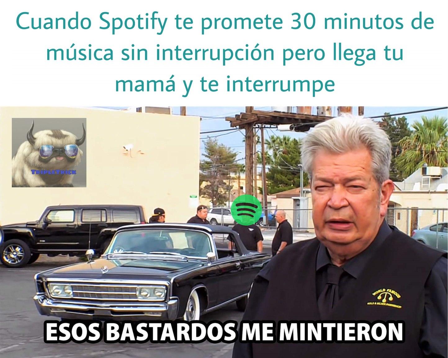 El Spotify pobre, claro esta - meme