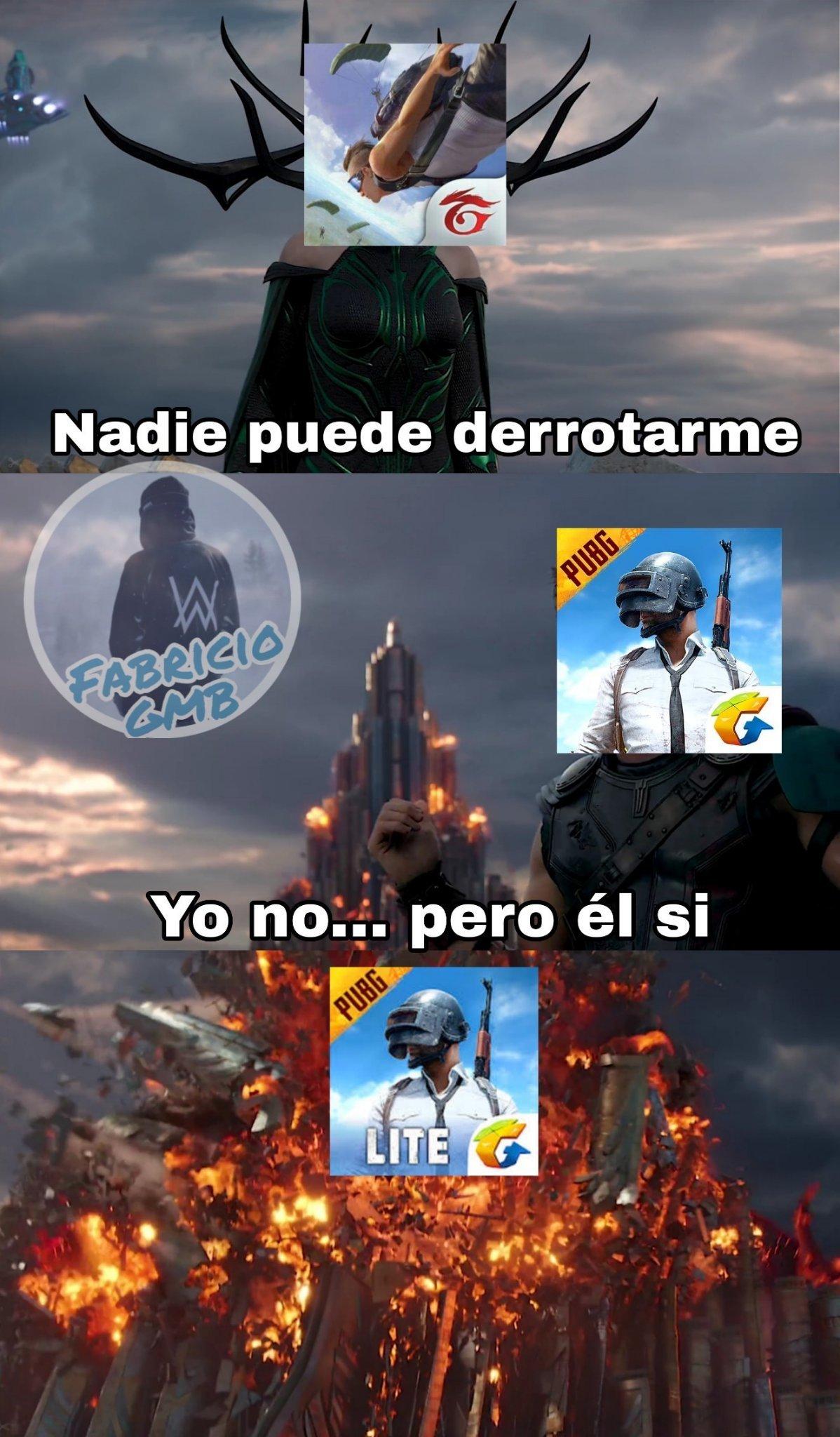 PUBG > Free Fire - meme