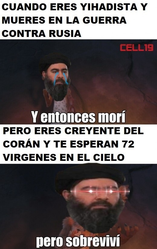 Ventajas de ser yihadista - meme