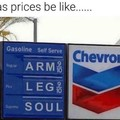 Prices on gas