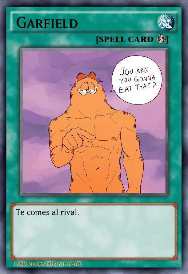 Garfield Yugioh - meme