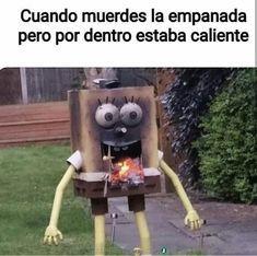 men se quemo elbob esponja - meme