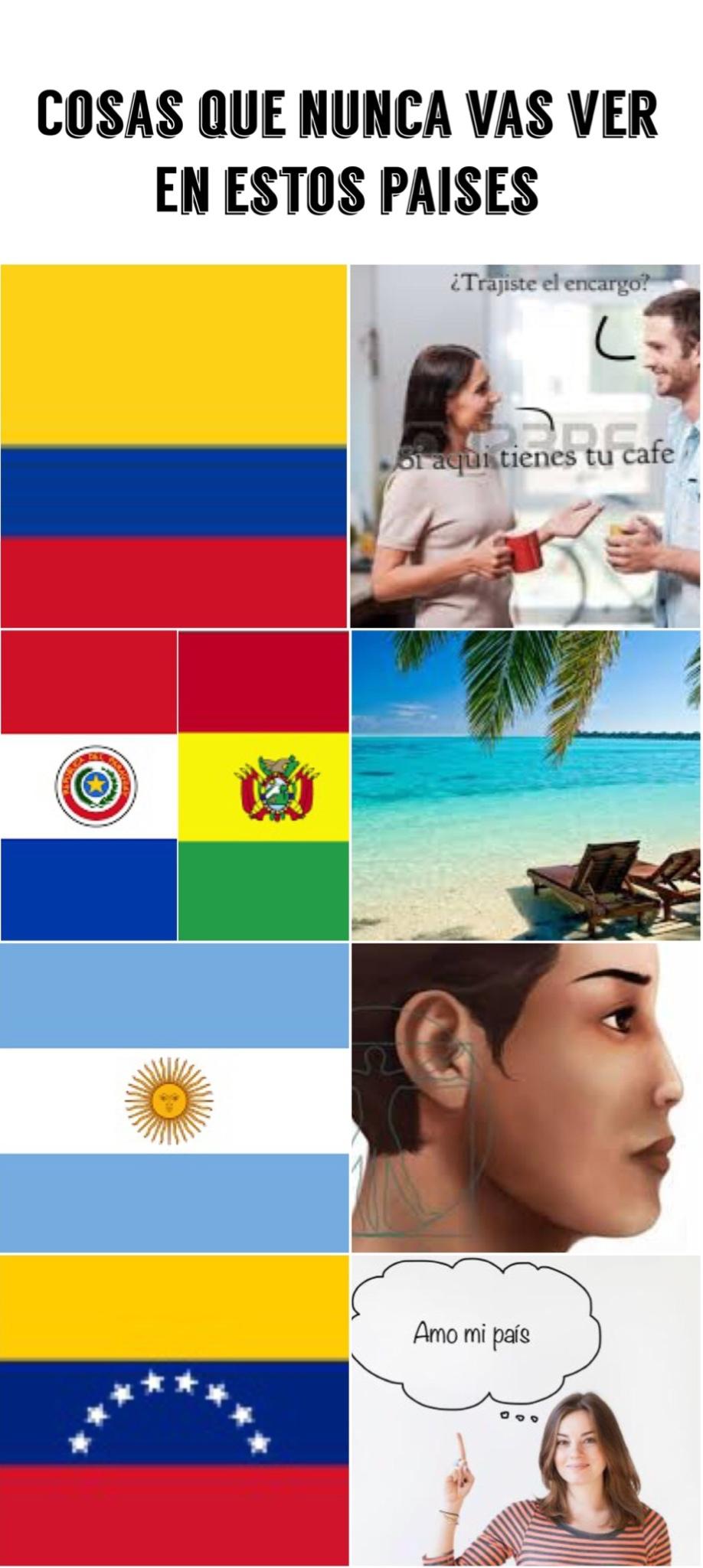 Cosas que nunca vas ver en estos paises :v - meme