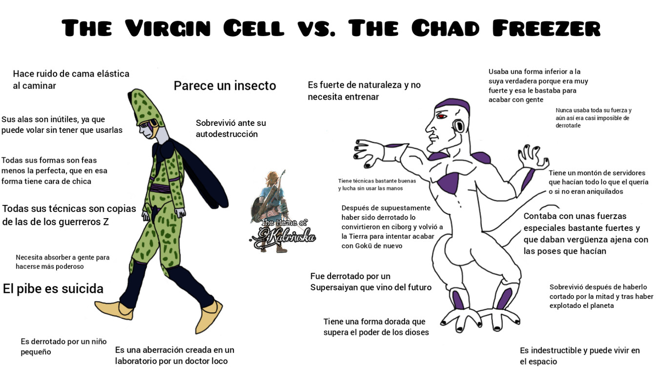 The Virgin Cell vs. The Chad Freezer - meme