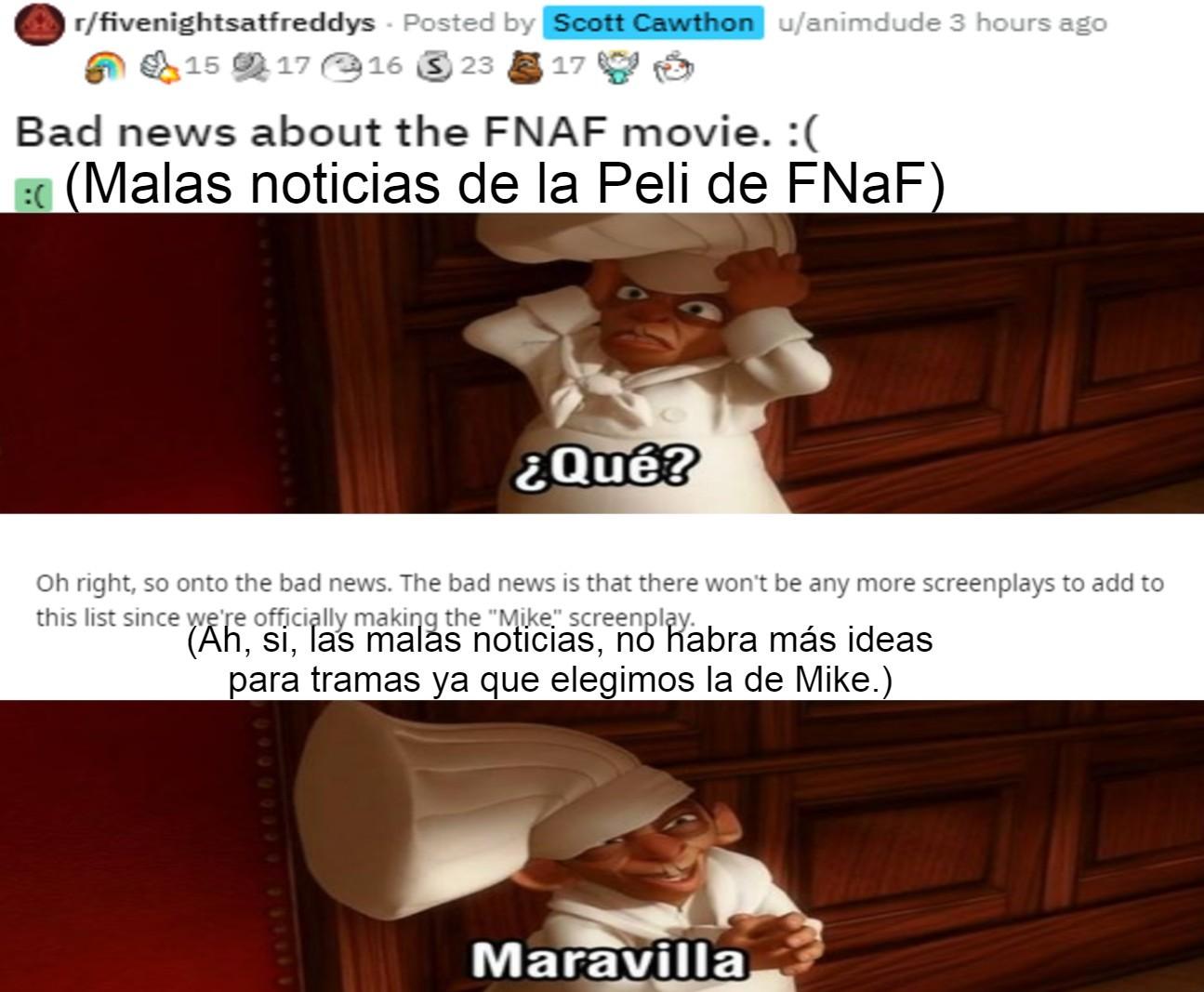 Ya se, FnaF PArA NiÑiTOs Y gAchAs :genius: pero se me hace interesante el concepto de una película de FNaF - meme