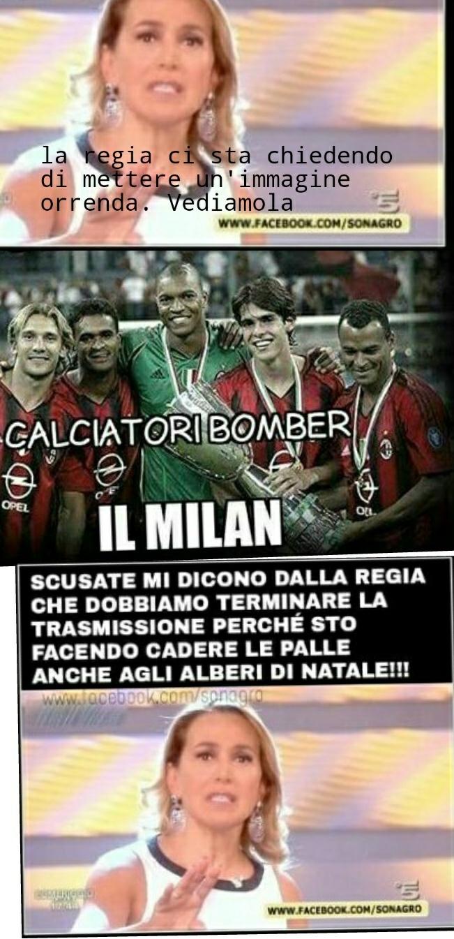 il Milan, squadra stupenda - meme