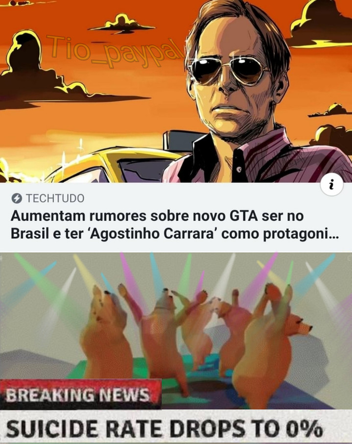 Grande Taxista Agostinho (GTA VI) tá chegando!!! - meme