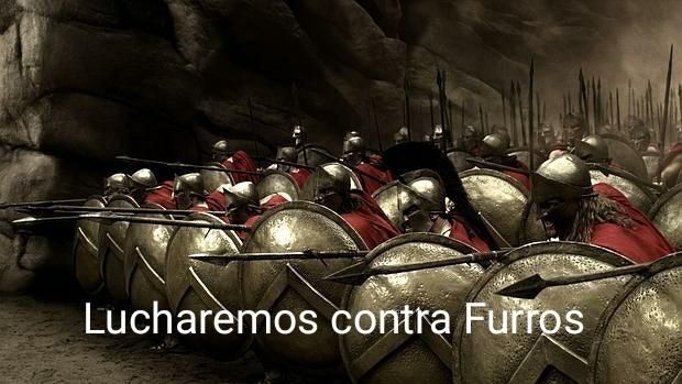 Los espartanos lucharán contra los Furros - meme