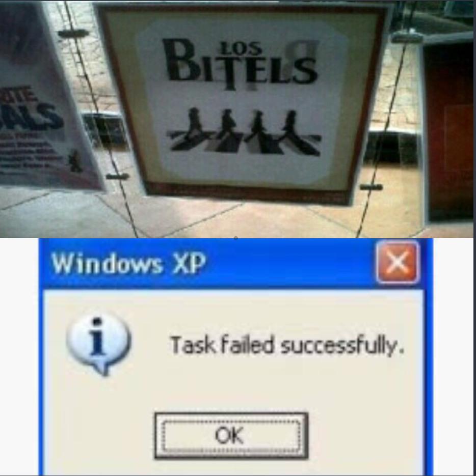 La tarea falló con exito - meme
