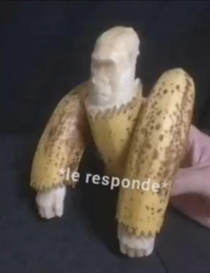 Gorila platano - meme