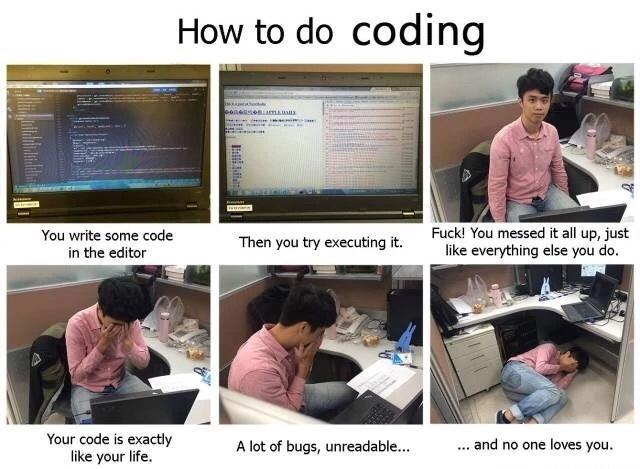 DM code in a nutshell - meme