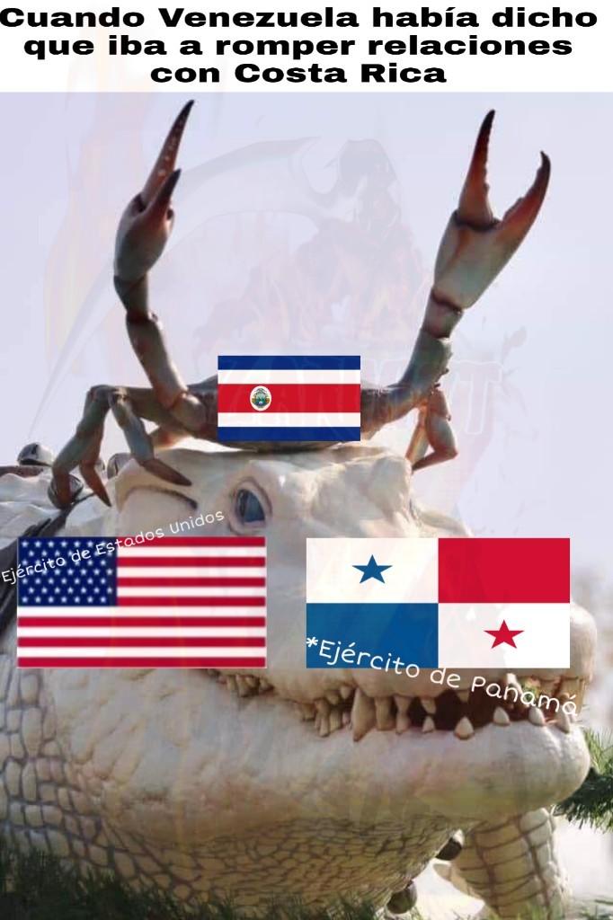 Costa Rica bien pinche sin ejército - meme