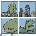 Godzilla tá meio estranho...