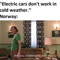 About 50 % of all new car sales in Norway are for electric cars.