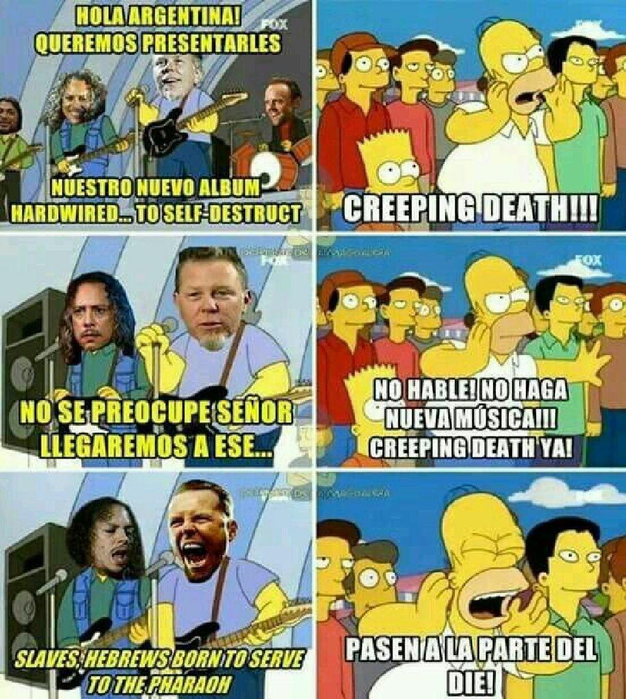 Metallica es la luz - meme