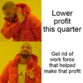 When company makes less profit