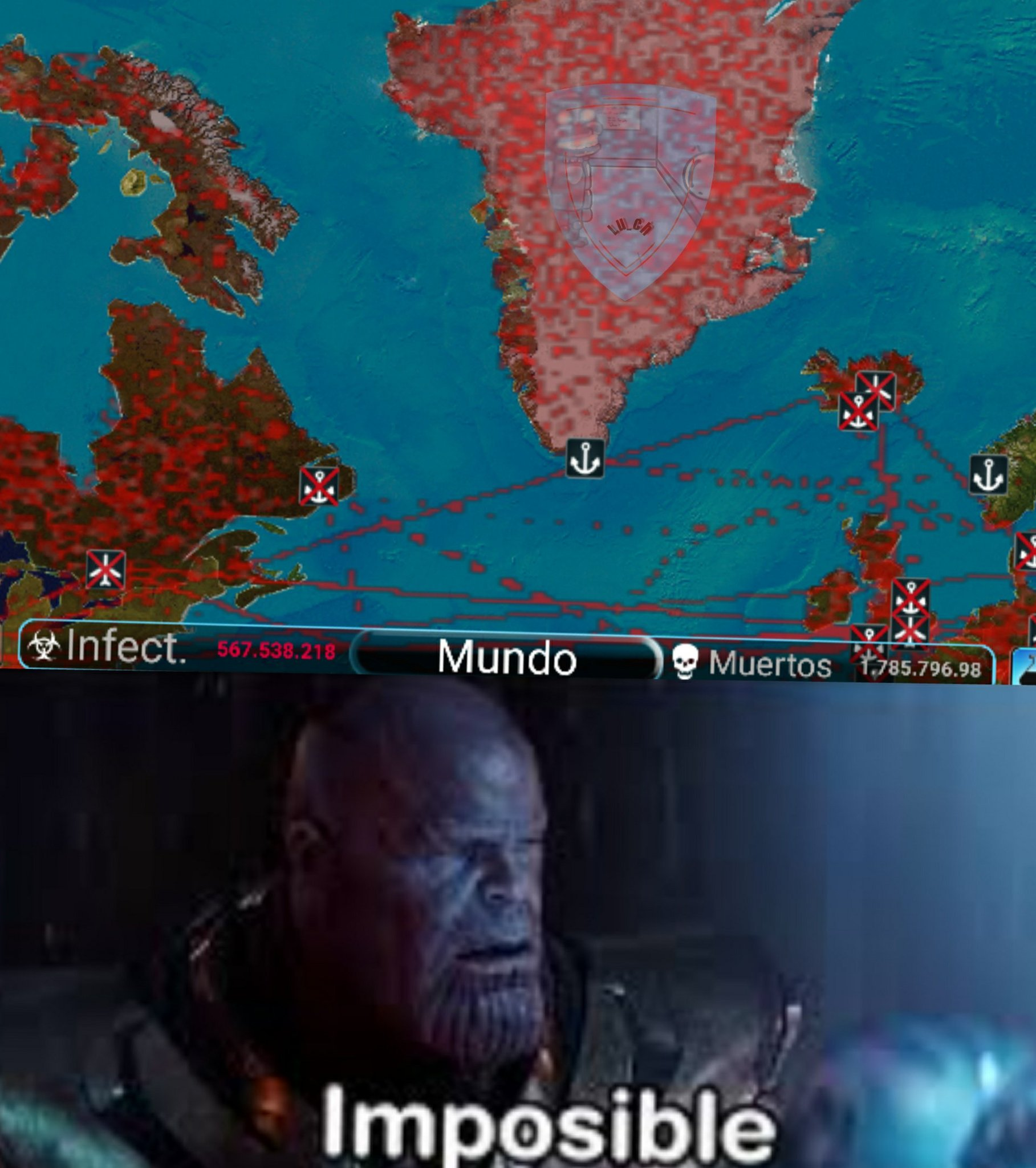 Si es imposible infectar a Groenlandia - meme