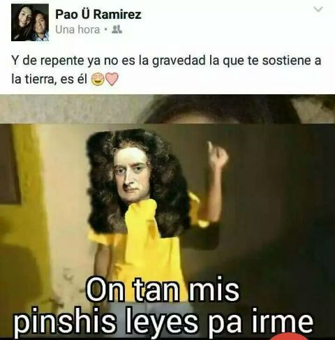 Pobre Sir Isaac - meme