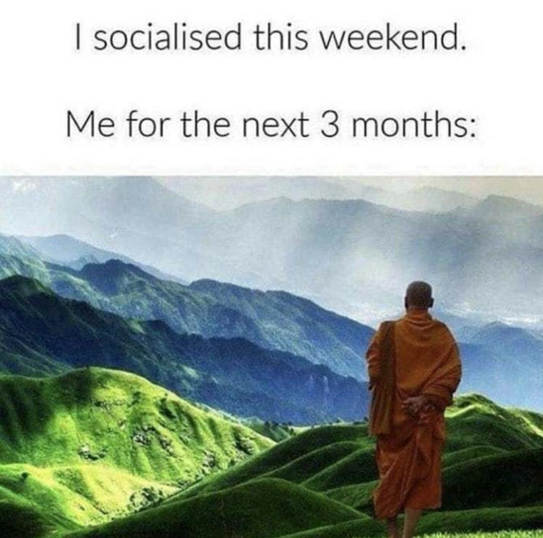 Me Socializing - meme